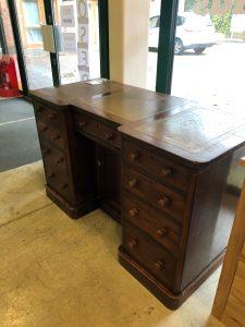 wooden desk in Emmaus Hampshire shop