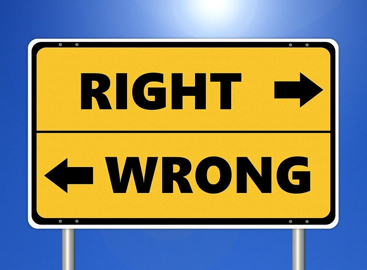 right wrong sign public relations ethics